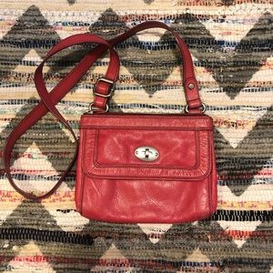 Fossil Bags - Fossil Bright Pink Leather Cross Body Purse
